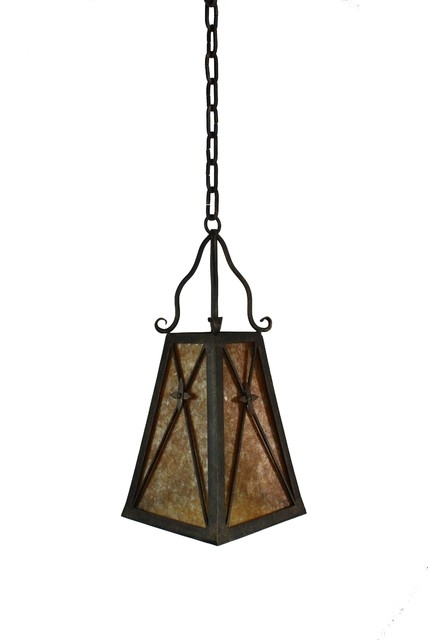 Ceramic Bird Shade Black Wrought Iron Pendant Lights For Light inside Outdoor Iron Hanging Lights (Image 3 of 10)