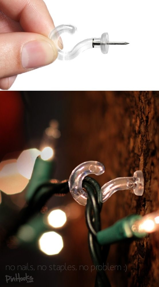 Charming Idea Clips To Hang Christmas Lights Outside Outdoors inside Hanging Outdoor Christmas Lights Hooks (Image 2 of 10)