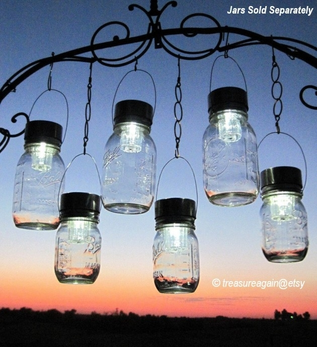 Charming Upcycled Outdoor Spring Lighting Ideas With Regard To Outdoor Hanging Garden Lights (View 3 of 10)