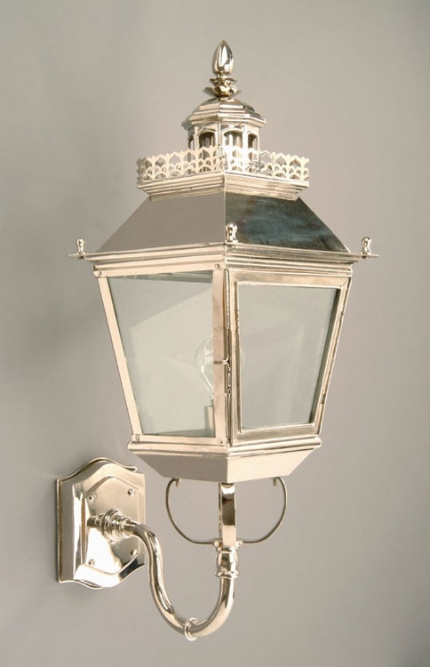 Chateau Polished Nickel Replica Victorian Outdoor Wall Light N502 With Victorian Outdoor Wall Lighting (View 4 of 10)