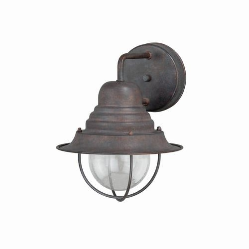"Chatham 1-Light 10.25"" Weathered Patina Outdoor Wall Light At intended for Outdoor Wall Lighting at Menards (Image 2 of 10)"