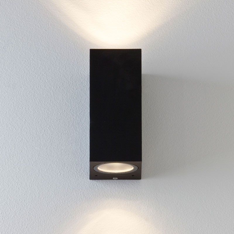 Chios 150 Wall Light - Black - Lighting Direct with regard to Outdoor Wall Lights In Black (Image 3 of 10)