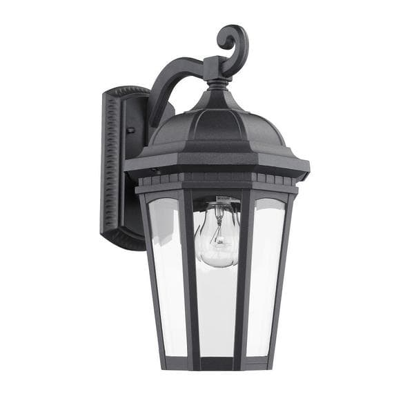 Chloe Transitional 1-Light Black Aluminum Outdoor Wall Light Fixture with regard to Aluminum Outdoor Wall Lighting (Image 2 of 10)