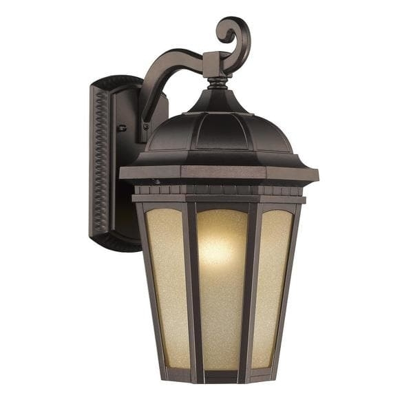 Chloe Transitional 1-Light Rubbed Bronze Outdoor Wall Light - Free intended for Bronze Outdoor Wall Lights (Image 2 of 10)
