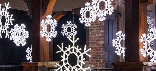 Christmas Decorating With Lighted Snowflakes – Christmas Lights, Etc Intended For Outdoor Hanging Snowflake Lights (View 3 of 10)