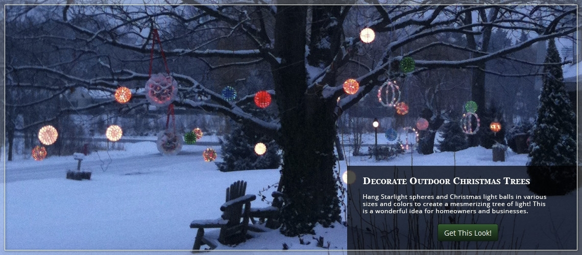 Christmas Yard Decorating Ideas with regard to Outdoor Hanging Christmas Light Balls (Image 4 of 10)