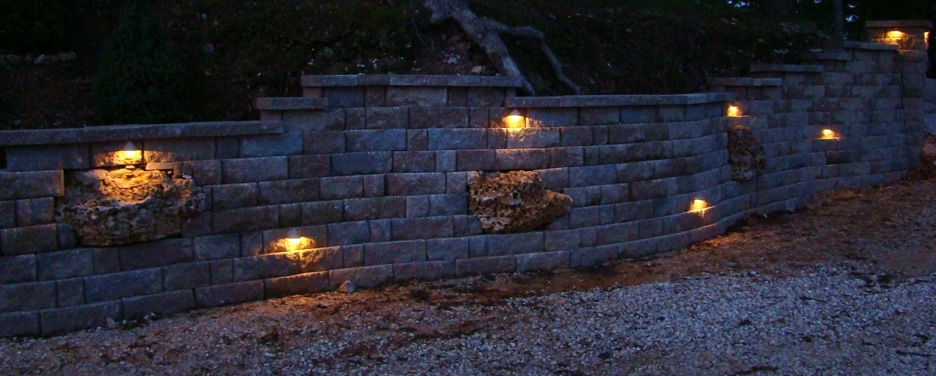 Featured Photo of Outdoor Block Wall Lighting