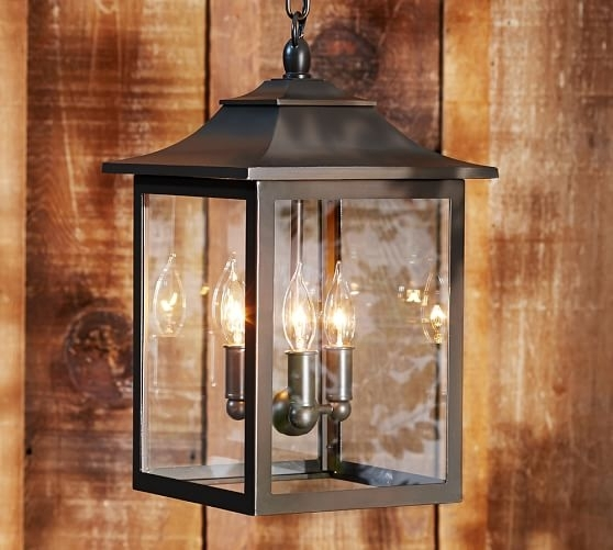 Classic Indoor/outdoor Pendant | Pottery Barn pertaining to Outdoor Entryway Hanging Lights (Image 2 of 10)
