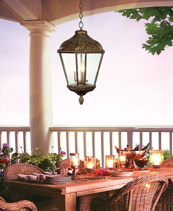 Clear Glass Outdoor Hanging Pendant Lights 100W E27 Patio Lantern inside Electric Outdoor Hanging Lanterns (Image 2 of 10)