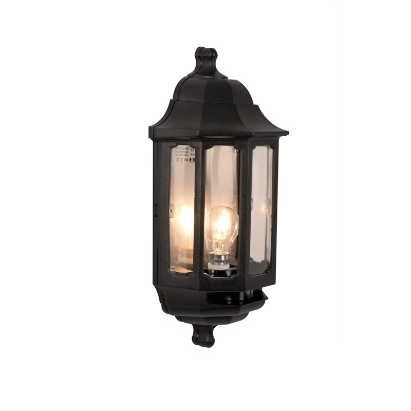 Coach Photocell Half Lantern - Lyco for Verdigris Outdoor Wall Lighting (Image 2 of 10)