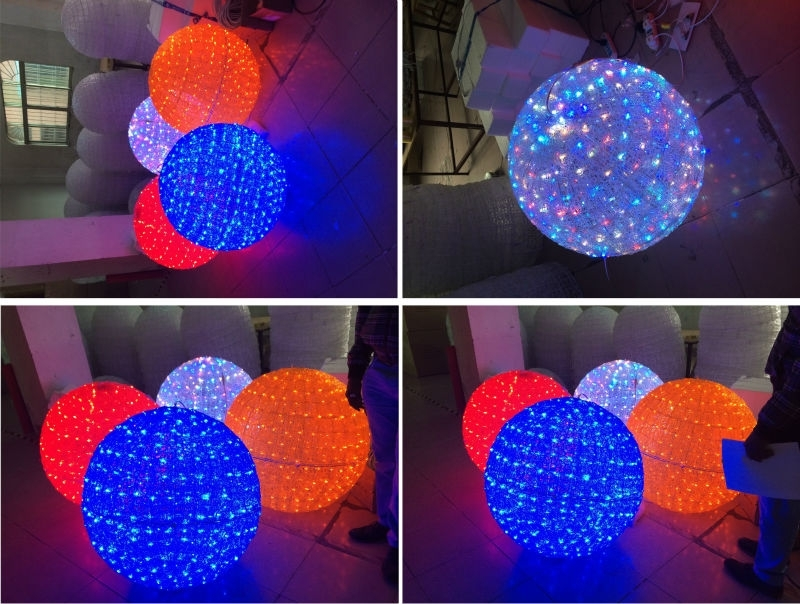 Colored Led Outdoor Christmas Lights Ball: 14 Amusing Outdoor for Outdoor Hanging Christmas Light Balls (Image 5 of 10)