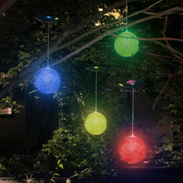 Colorful Balls As Outdoor Hanging Lights | Beautiful Chandeliers regarding Outdoor Hanging Ornament Lights (Image 3 of 10)