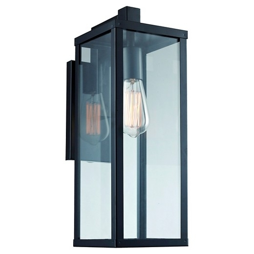 Contemporary Bel Air Lighting Outdoor Wall Light Black Target inside Vinyl Outdoor Wall Lighting (Image 1 of 10)