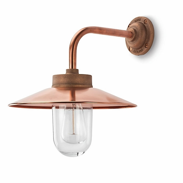 Copper Exterior Wall Lamp, Right-Angled | Manufactum Online Shop with Copper Outdoor Wall Lighting (Image 2 of 10)