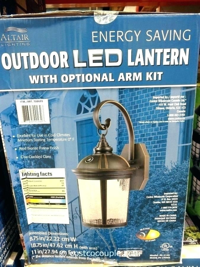 Costco Outdoor Lights Solar Landscape Lights Led Porch Light regarding Costco Led Outdoor Wall Mount Lighting (Image 6 of 10)