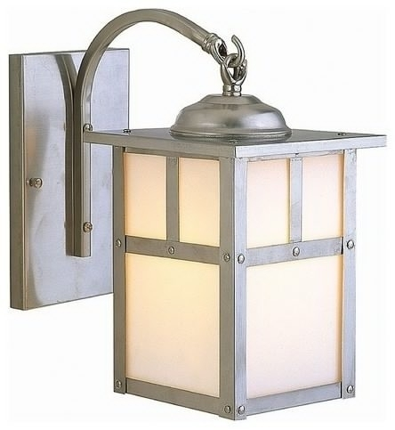 Craftmade Lighting Mission Style Outdoor Wall Light With White with regard to Mission Style Outdoor Wall Lighting (Image 5 of 10)