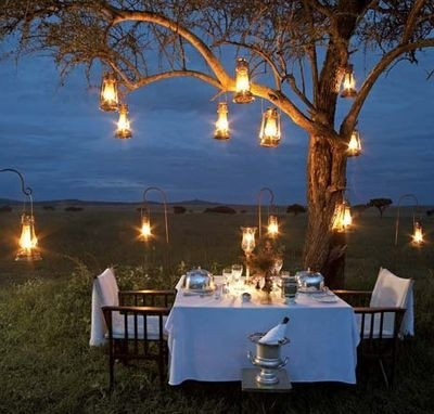 Creative Lighting Ideas For Your Dinner Party Outdoor Dinner Outdoor intended for Outdoor Hanging Tree Lanterns (Image 2 of 10)