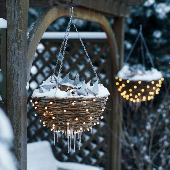 Creative Outdoor Christmas Lights | Outdoor Christmas, Christmas inside Outdoor Hanging Basket Lights (Image 1 of 10)