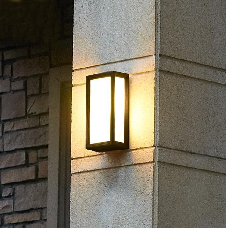 Creative Outdoor Wall Lamps Waterproof Outdoor Courtyard Balcony With Outdoor Exterior Wall Lighting (View 6 of 10)