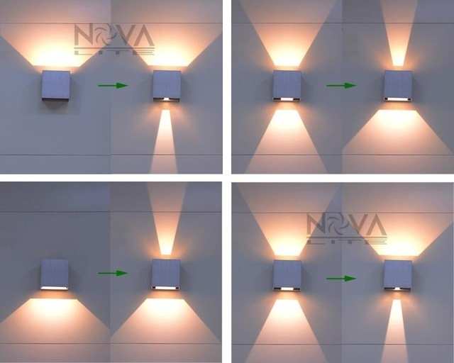 Cree Outdoor Wall Light, Led Up Down Wall Sconces Adjustable Wall inside Outdoor Up Down Wall Led Lights (Image 5 of 10)
