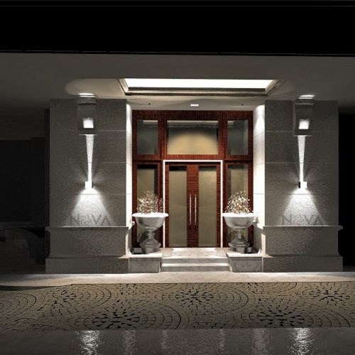 Cree Outdoor Wall Light, Led Up Down Wall Sconces Adjustable Wall throughout Garden Outdoor Wall Lights (Image 3 of 10)