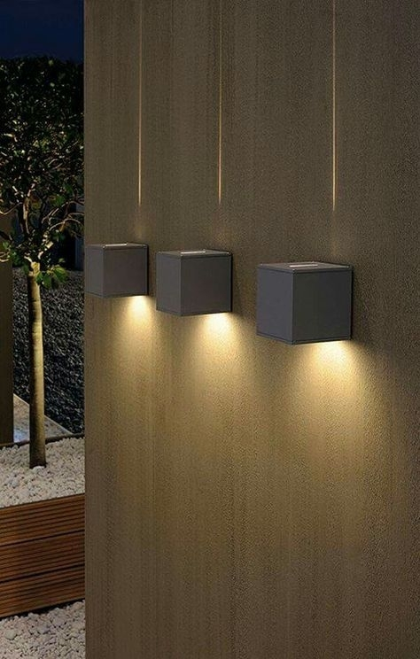 Cree Outdoor Wall Light, Led Up Down Wall Sconces Adjustable Wall throughout Outdoor Wall Accent Lighting (Image 3 of 10)
