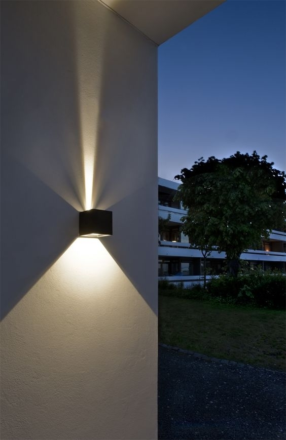 Cube Led Outdoor Wall Lamp From Light Point As Design: Ronni Gol Within Outdoor Wall Led Lighting (View 9 of 10)