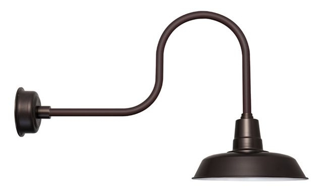 Customizable Oldage Indoor/outdoor Led Barn Light - Contemporary for Outdoor Gooseneck Wall Lighting (Image 4 of 10)