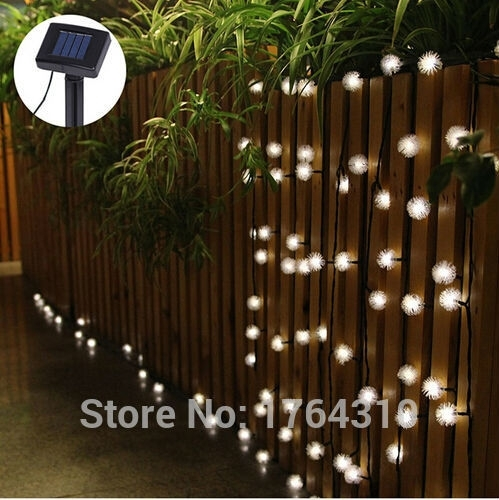 Dandelion Solar String Fence Light Hanging Christmas Tree & Garden with regard to Hanging Outdoor Lights on Fence (Image 4 of 10)