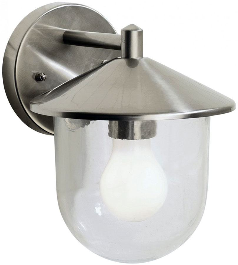 Dar Poole Modern Single Outdoor Wall Light Stainless Steel Poo1544 inside Stainless Steel Outdoor Wall Lights (Image 3 of 10)