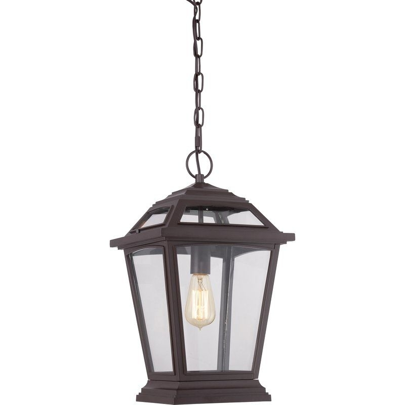 Darby Home Co Ahoghill 1-Light Outdoor Hanging Lantern & Reviews pertaining to Wayfair Outdoor Hanging Lights (Image 1 of 10)