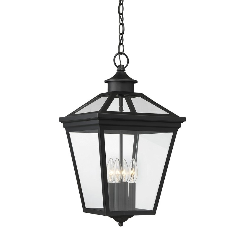 Darby Home Co Coleg 4 Light Outdoor Hanging Lantern & Reviews | Wayfair With Outdoor Hanging Lantern Lights (View 5 of 10)