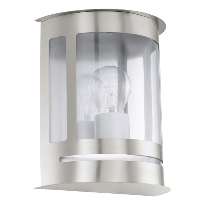 Daril 60w Stainless Steel Half Lantern Garden Outdoor Wall Light Throughout Half Lantern Outside Wall Lights (View 7 of 10)