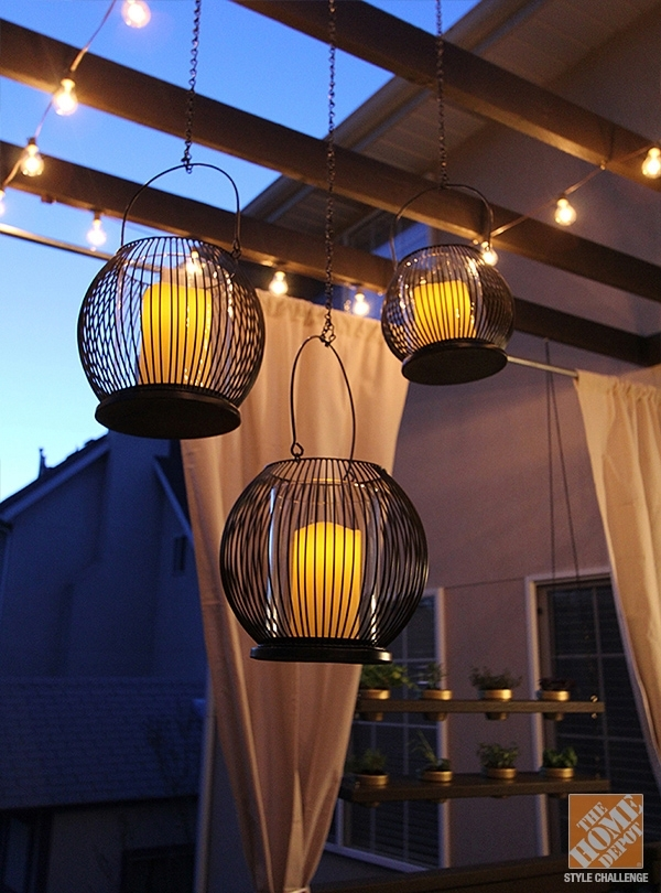 Deck Decorating Ideas: Pergola, Lights And Cement Planters inside Outdoor Hanging Lights for Pergola (Image 1 of 10)
