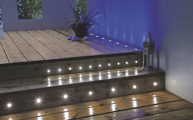 Decking & Ground Lights - Contemporary - Exterior - Hampshire intended for Outdoor Wall Lighting at B&q (Image 5 of 10)
