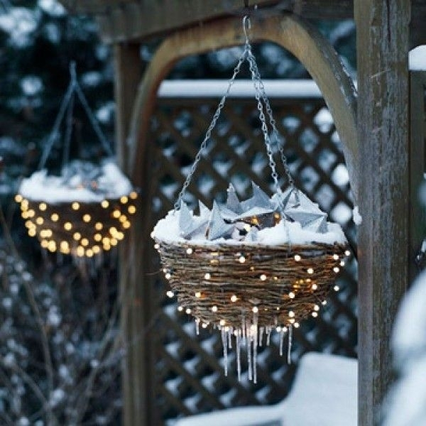 Decorating With Baskets | Decorate Hanging Baskets With Mini Lights for Outdoor Hanging Basket Lights (Image 3 of 10)