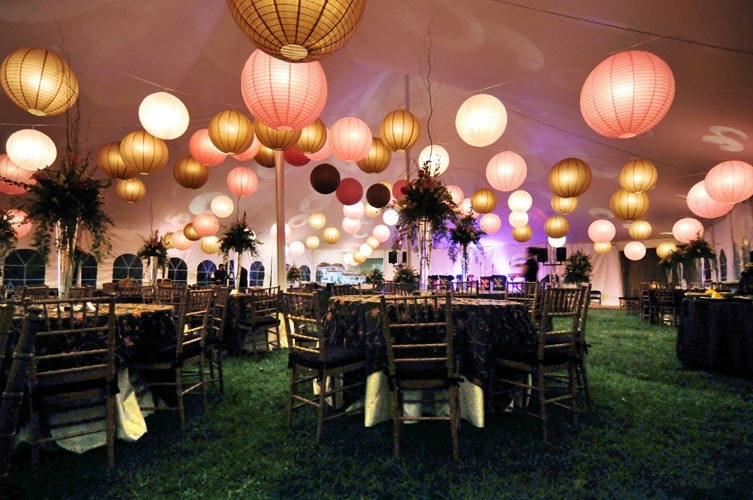 Decorating With Paper Lanterns Outdoors - Outdoor Designs throughout Outdoor Hanging Nylon Lanterns (Image 4 of 10)