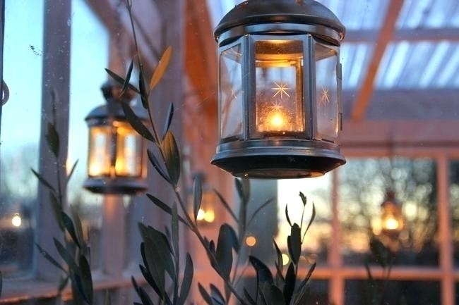 Decorative Candle Lantern Outdoor Candle Lanterns Outdoor Decor within Outdoor Hanging Candle Lanterns (Image 4 of 10)