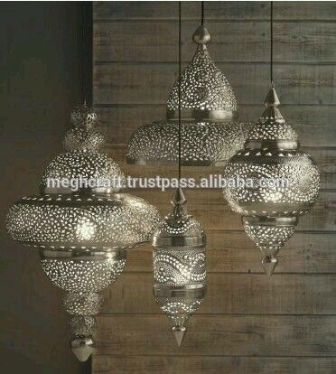 Decorative Hanging Lanterns-Wholesale Silver Moroccan Lantern-Cut with regard to Outdoor Hanging Moroccan Lanterns (Image 2 of 10)