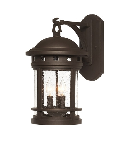 Designers Fountain 2381-Orb Sedona 3 Light 16 Inch Oil Rubbed Bronze within Oil Rubbed Bronze Outdoor Wall Lights (Image 1 of 10)