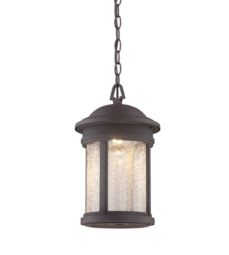 Designers Fountain Led31134-Orb Prado Led 9 Inch Oil Rubbed Bronze with Oil Rubbed Bronze Outdoor Hanging Lights (Image 4 of 10)