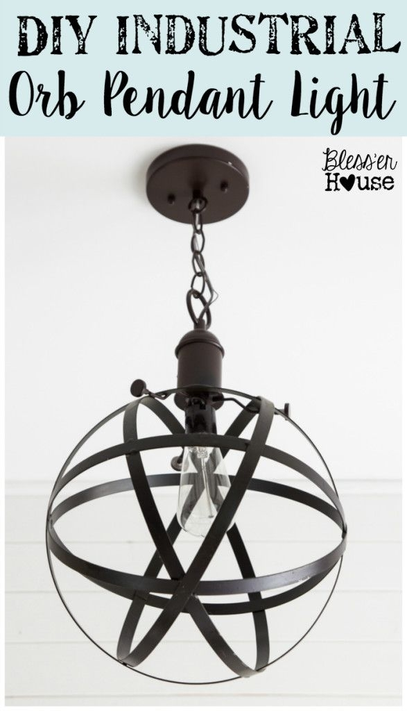 Diy Industrial Orb Pendant Light | Pendant Lighting, Industrial And in Funky Outdoor Hanging Lights (Image 4 of 10)
