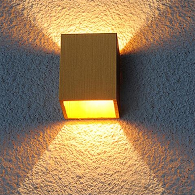 Diy Modern Creative Small Cube 4 Colors Aluminum Led Wall Lamp For intended for Diy Outdoor Wall Lights (Image 6 of 10)