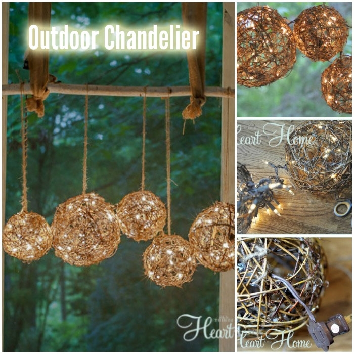Diy Outdoor Chandelier Or Porch Light - Diy For Life pertaining to Homemade Outdoor Hanging Lights (Image 3 of 10)