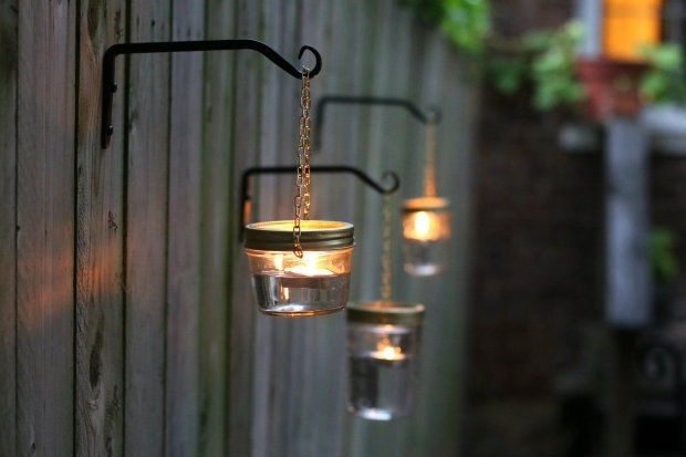 Featured Photo of Outdoor Hanging Mason Jar Lights