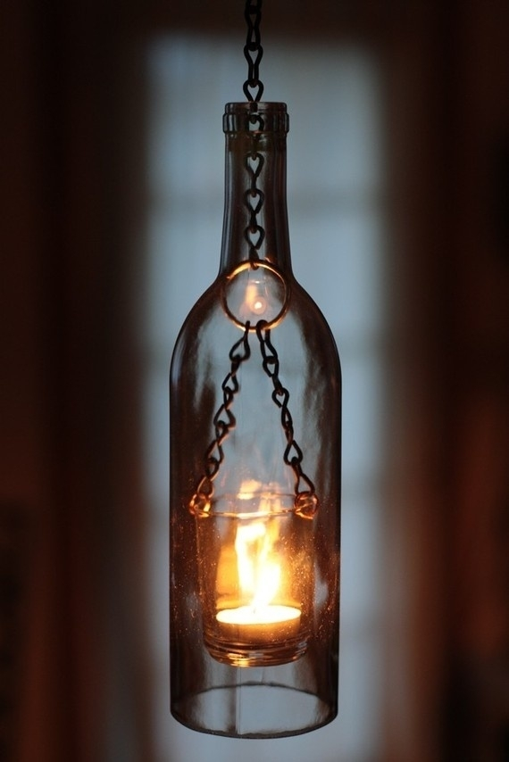 Diy  Wine Bottle Lantern Outdoor-Stuff I Love This | Outdoorsey intended for Outdoor Hanging Bottle Lights (Image 5 of 10)