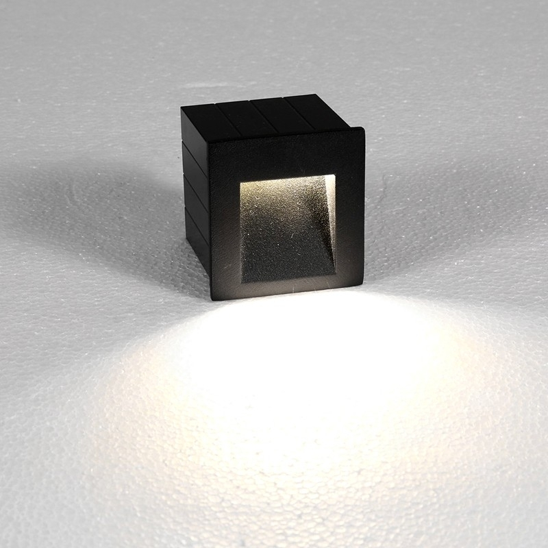 Edit Step Outdoor Led Wall Light - Black - Lighting Direct in Outdoor Led Wall Lighting (Image 5 of 10)