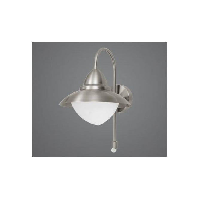 Eglo 87105 Sidney1 Light Traditional Outdoor Wall Light Stainless within Eglo Lighting Sidney Outdoor Wall Lights With Motion Sensor (Image 1 of 10)
