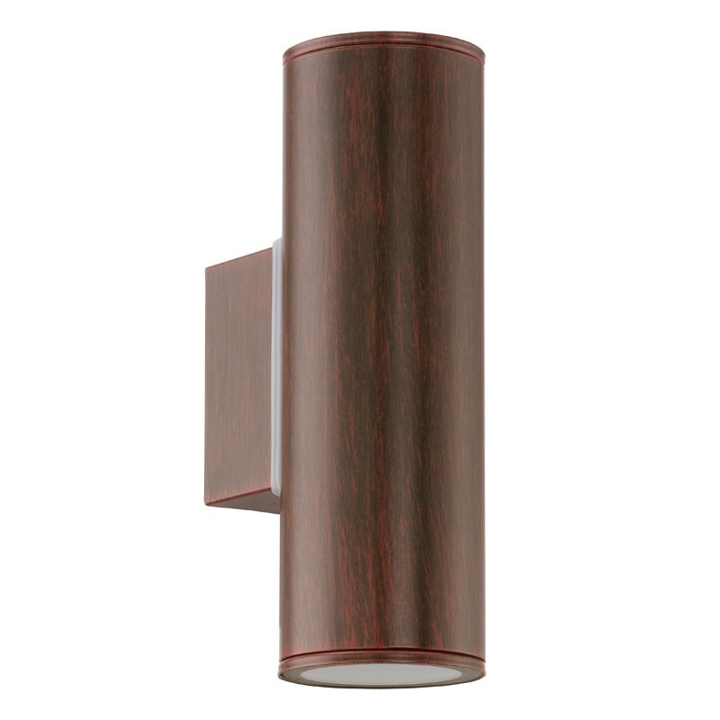 Eglo Riga Twin Led Outdoor Wall Light   Antique Brown   Lighting Direct Intended For 200Mm Eglo Riga Outdoor Led Wall Lighting (Photo 3 of 10)