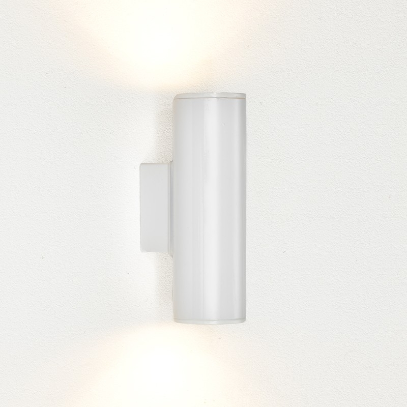 Eglo Riga Twin Led Outdoor Wall Light   Gloss White   Lighting Direct With Regard To 200Mm Eglo Riga Outdoor Led Wall Lighting (Photo 9 of 10)